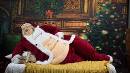 Коледните угощения не прощават дори на Дядо Коледа