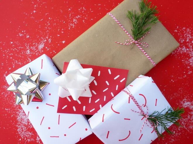 Направете сами опаковъчна хартия за подаръци