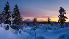 Полярната нощ във Финландия