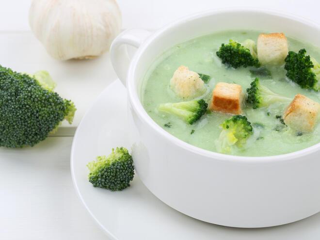 Ароматна крем супа от броколи