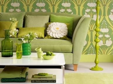 Красиви идеи за интериор в зелено