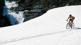 С колелата в снега...