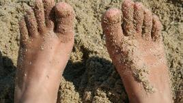 Бърз скраб от пясък. За крачетата