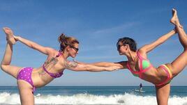 Фитнес лятото на известните